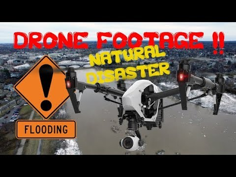 FLOODED!  Drone Footage, BRANTFORD, ONTARIO CANADA Disaster 2018
