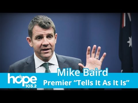 "Mike Baird ""Tells It As It Is"" - Why The Bold Stance On GST, Power Poles & More?"