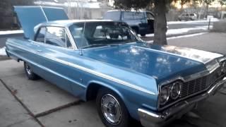 Bad @ss OG 1964 Chevy Impala SS blue