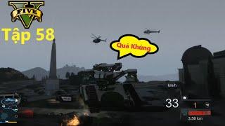 GTA 5 Siêu Xe #58 Xe Tank Khổng Lồ Xuất Hiện Cân Cả Binh Đoàn Cảnh Sát Bảo Về Nhà Trắng Và Cái Kết !
