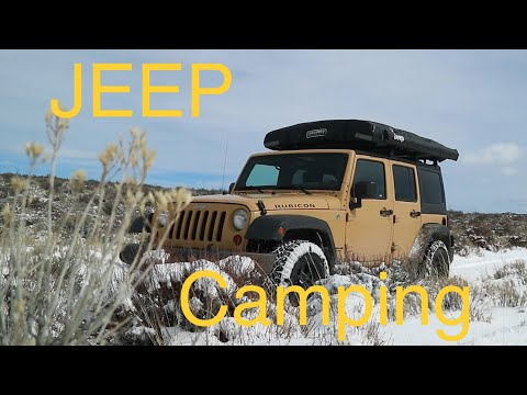Winter Jeep Camping - Exploring the Oregon Desert by Jeep
