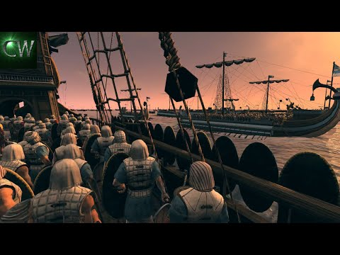 THE GREEK TRIREME OUTWEIGHS THE ROMANS! 2v2 Rome II Battle