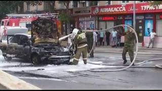 Audi С4с ГБО сгорела в Шымкенте