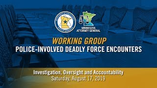 DPS + AG Working Group: Hearing on Investigation, Oversight and Accountability (PART 1 of 2)