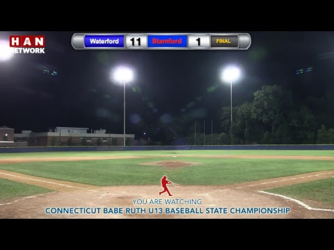HAN Sports: CT Babe Ruth U13 championship: Stamford vs. Waterford