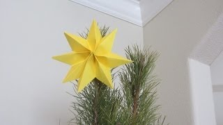 How To Fold A Christmas Tree Topper Yellow Star Paper Art Origami