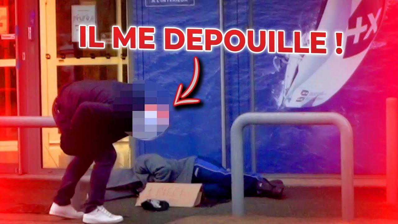 JE FAIS SEMBLANT D'ÊTRE SDF ET IL ME VOLE 50 € ! ( CAM OFF )