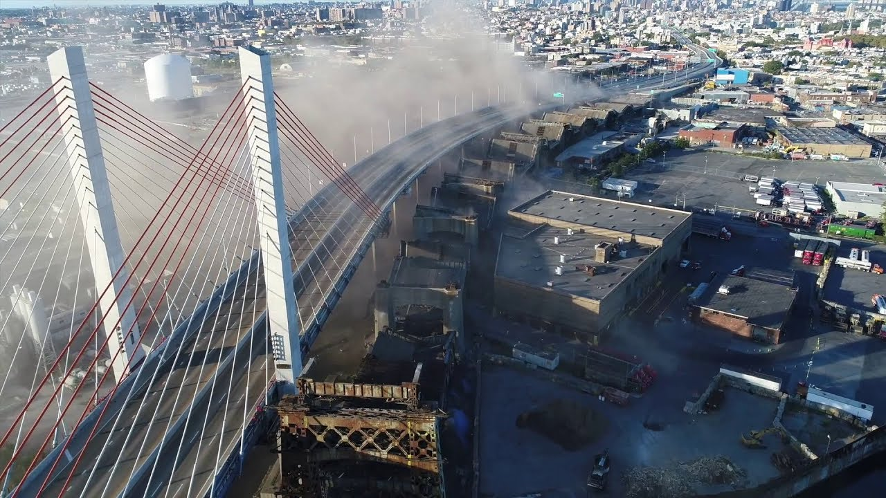 New York City Kosciuszko Bridge Demolition (High Definition Footage)