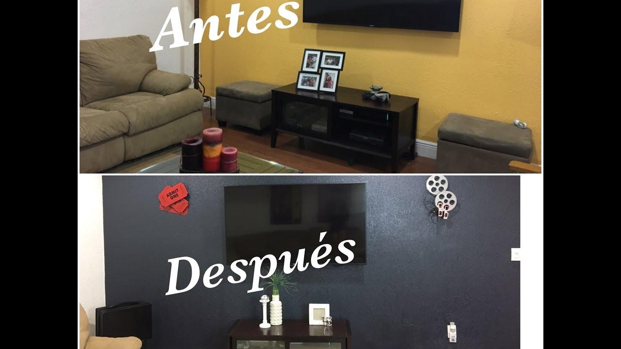 TOUR DE MI SALA DE TV IDEAS PARA DECORAR  ANTESDESPUES