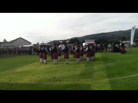 Oban High School novice Pipe Band Cowal 2012