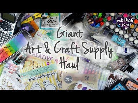 My Giant Art and Craft Supply Haul