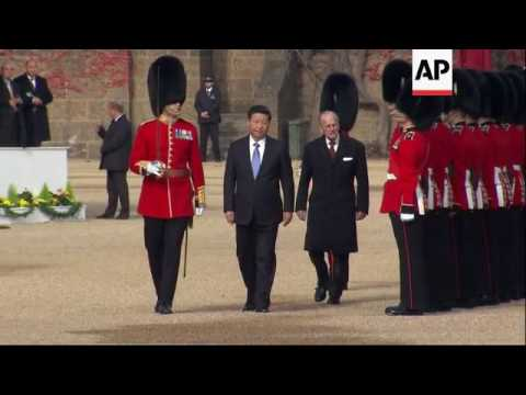 China's Xi inspects guard at welcome ceremony