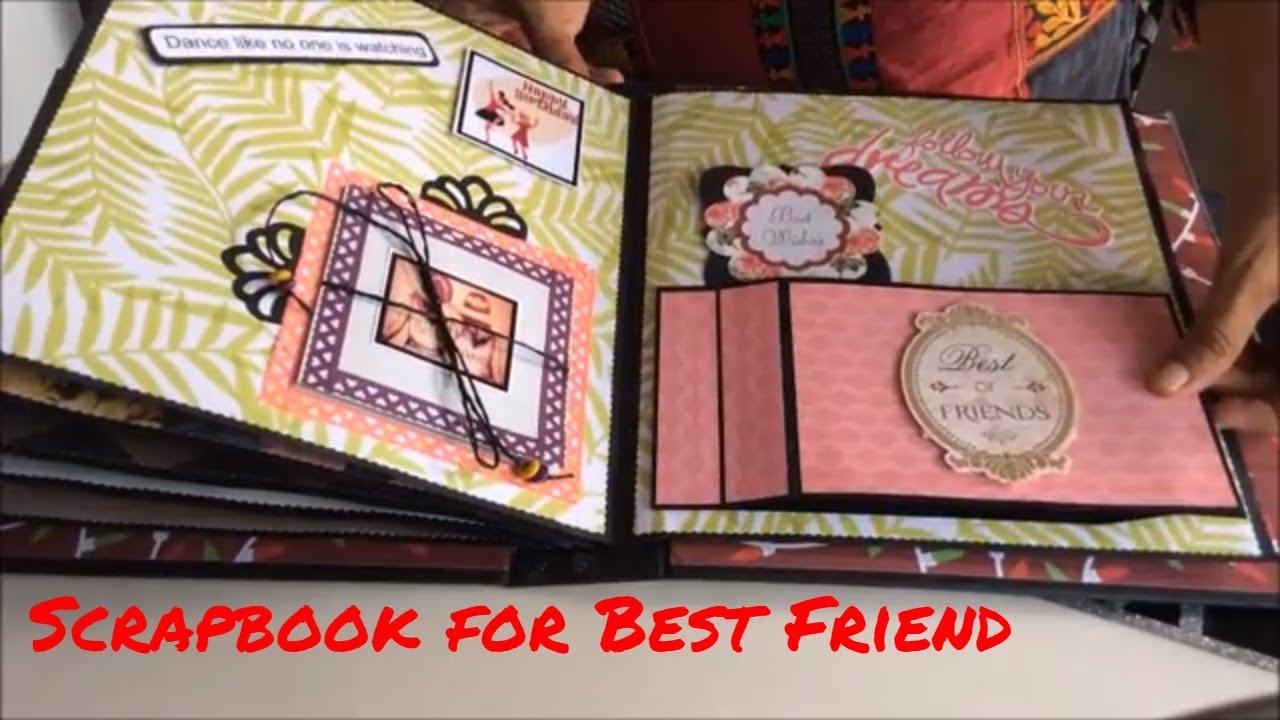 Best Gift For Best Friend Birthday Scrapbook For Best Friend