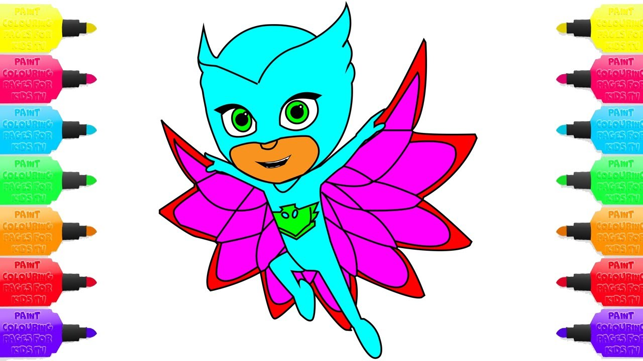 how to draw pj mask disney junior owlette coloring pages