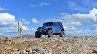Mosquito Pass - Near Leadville or Alma Colorado - Four 4 Wheeling - Jeep Wrangler Rubicon CO