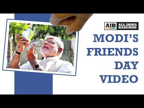 AIB Quickie: Modi's Friends Day Video