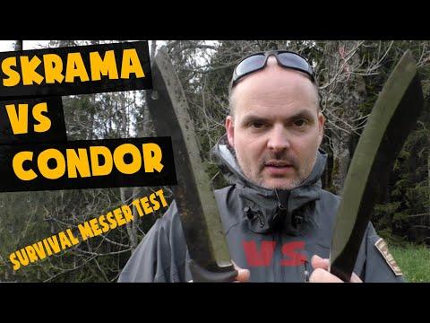 Survival Messer Test: Skrama oder Condor?