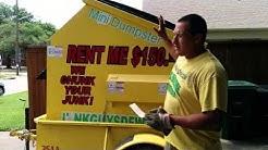 Mini dumpster rental in Fort Worth Texas $150