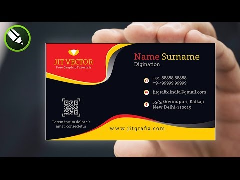How to Learn CorelDraw Tutorial | Professional Business Card Design in Hindi~Creative visiting Card thumbnail