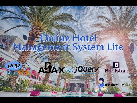 Online Hotel Management System Lite with PHP MySQL and Bootstrap
