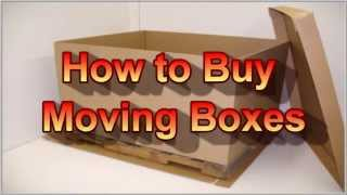 How to Buy Moving Boxes