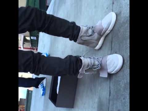 pretty nice 7e826 6da65 Kanye West First Time Trying On His Adidas Yeezy 750 Boost Sneakers (Part 1)