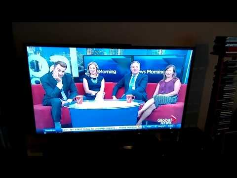 Global Calgary anchors laughing at their own John Oliver moment
