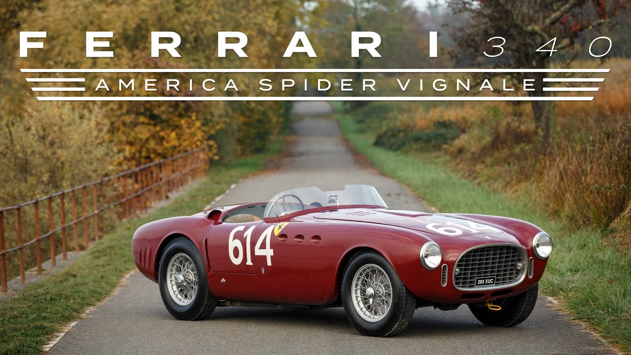 1952 Ferrari 340 America Vignale Spider - YouTube