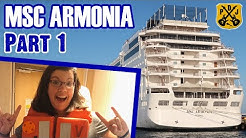 MSC Armonia Part 1: Embarkation, Lunch, Cabin Tour, Ship Exploration - ParoDeeJay Cruise Vlog 2020