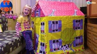 Игровой ДОМИК Распаковка Детского Домика с Ярославой Игрушки для детей Children House Unboxing