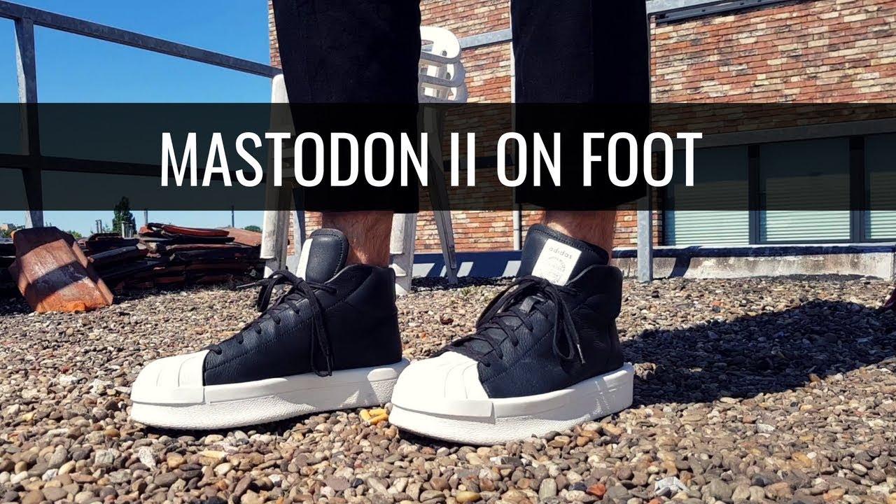 Rick Owens x Adidas  Mastodon II (On Foot) - YouTube 8c205b186