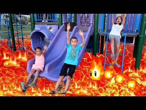 Thumbnail: THE FLOOR IS LAVA CHALLENGE! Family Fun Kids Pretend Playtime