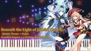 Beneath the Light of Jadeite (Part 1) /Genshin Impact 1.5 PV Piano (Synthesia Tutorial)