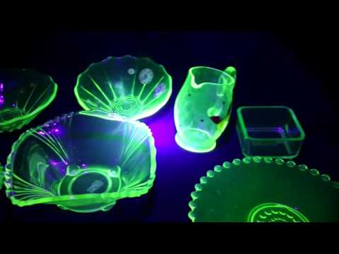 My uranium glass collection / uranglas samling