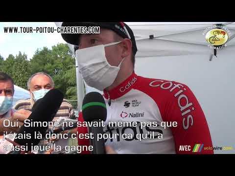 Interview Elia Viviani, vainqueur de la 1ère étape du Tour Poitou-Charentes 2021
