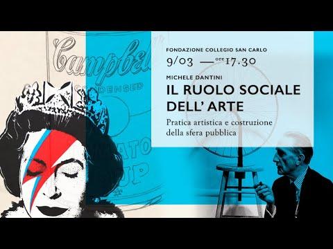 Il ruolo sociale dell'arte - Michele Dantini