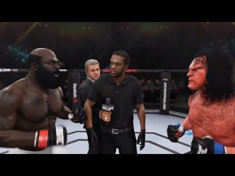 Kimbo Slice Vs. Hellboy (EA Sports UFC 3) - CPU Vs. CPU - Crazy UFC 👊🤪