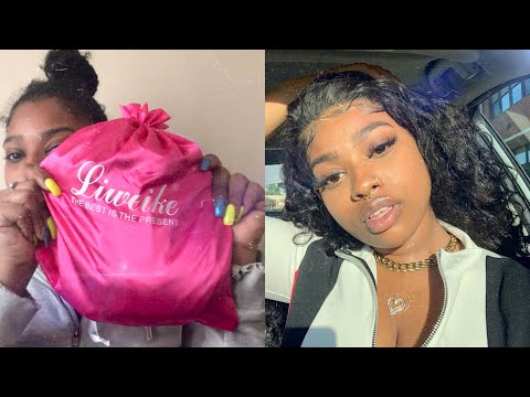 UNBOXING + INSTALL: Liweike Hair Lace Front Wig Brazilian Loose Wave 200% Density   Ashley Liani