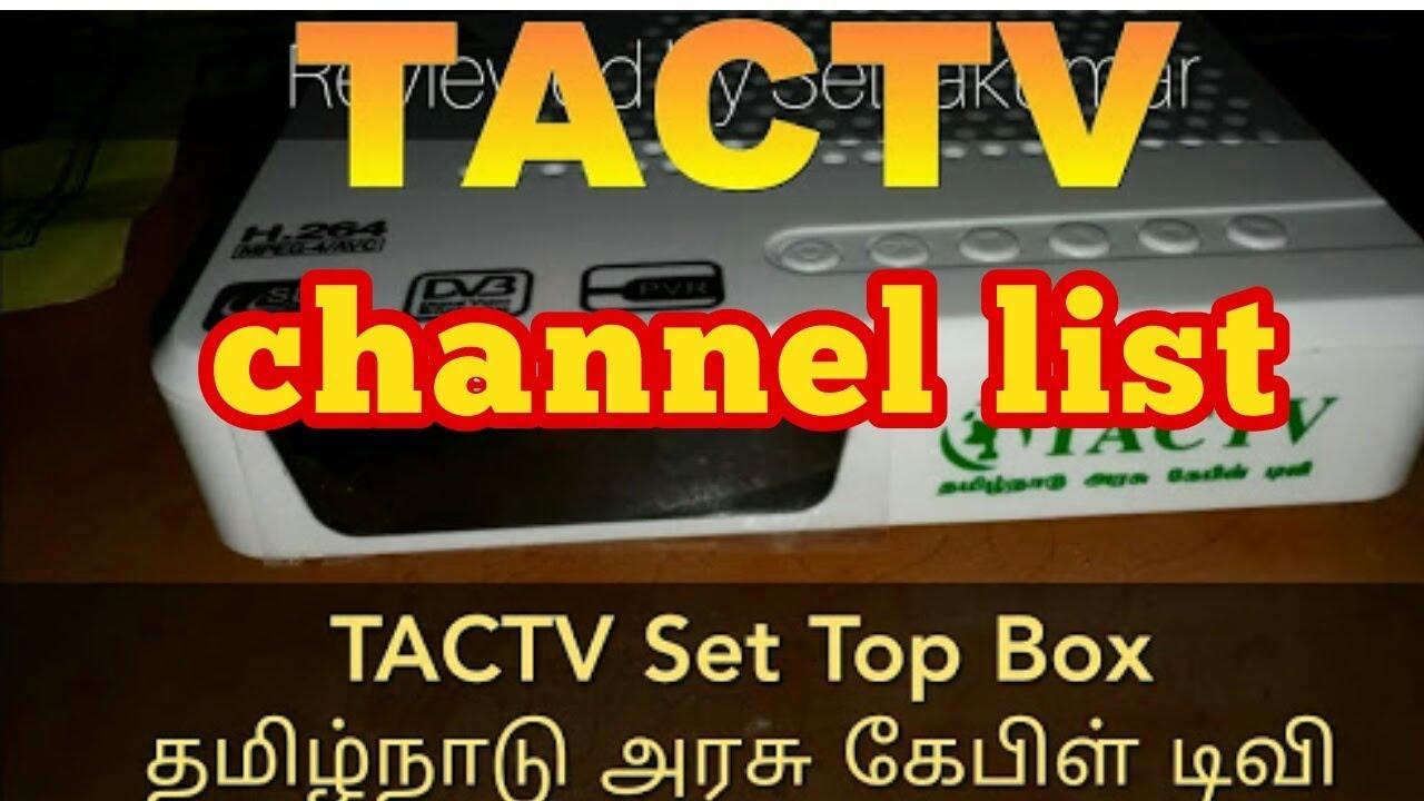 Tamilnadu Arasu Cable Tv Setup Box Channel List Youtube