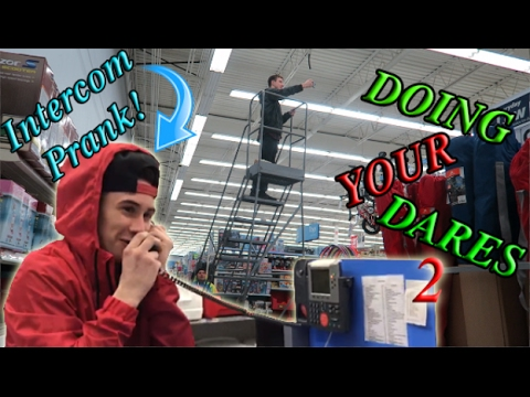 DOING YOUR DARES IN WALMART 2 (INTERCOM PRANK)