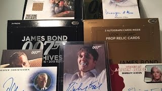 James bond archives trading cards unboxing