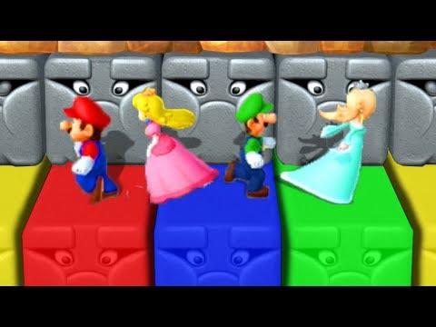 Mario Party 10 - Minigames - Mario vs Luigi vs Peach vs Rosalina (Master CPU)