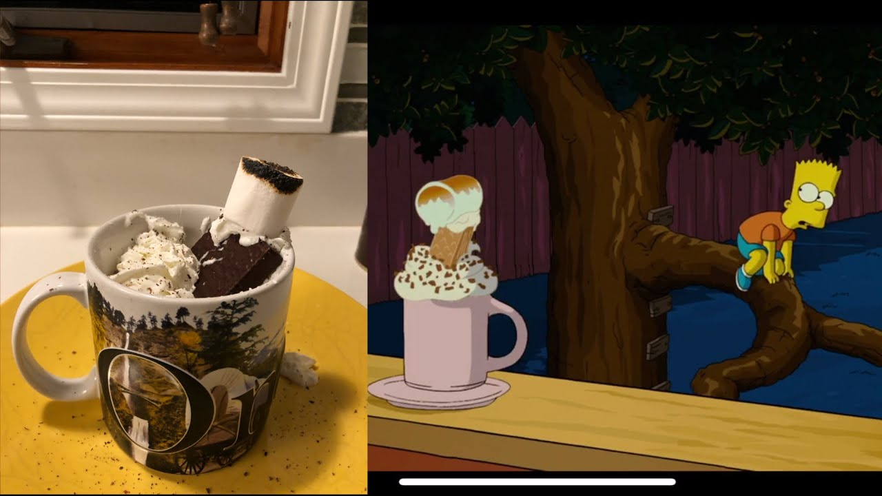 Making Mr Flanders Hot Chocolate The Simpsons Youtube