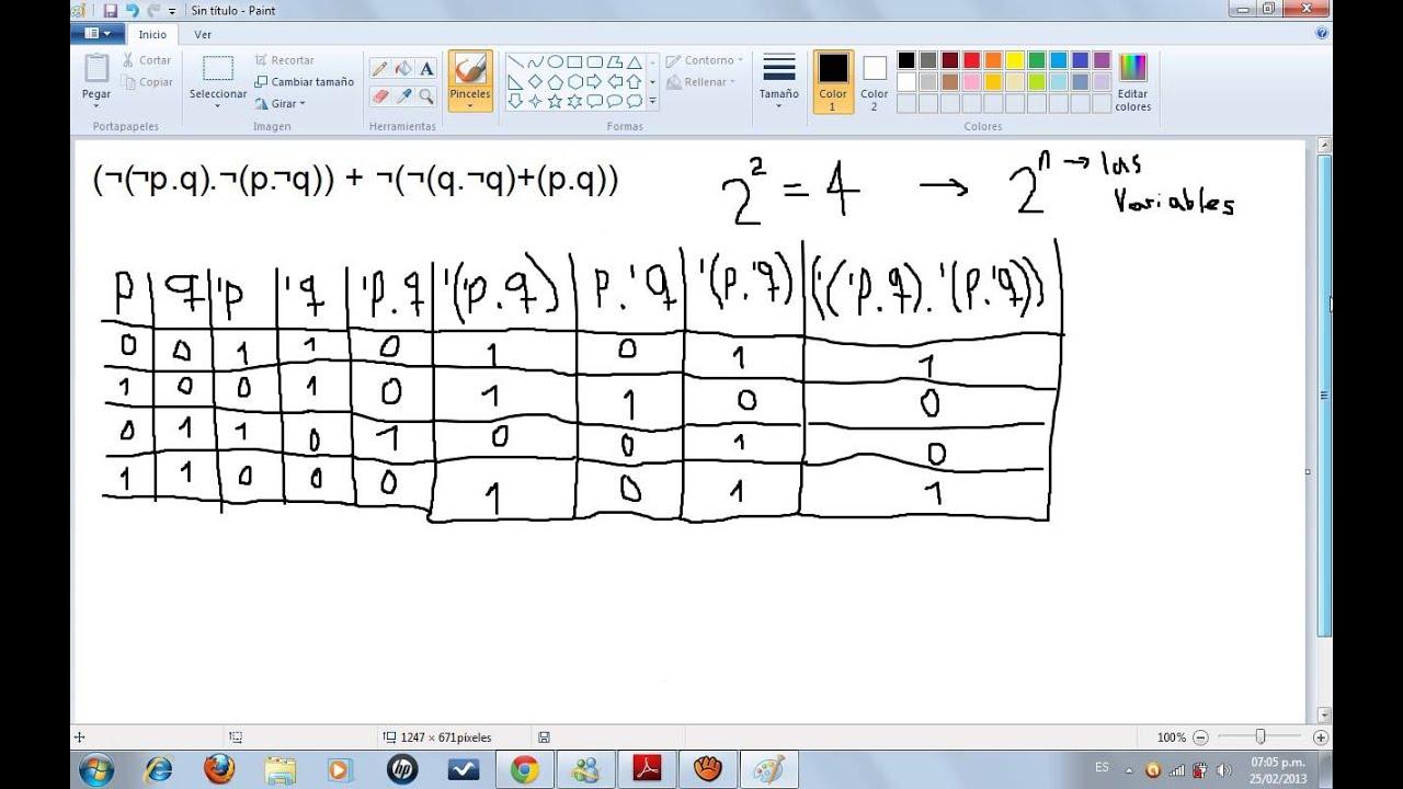 Lógica binaria parte 2 (tablas de verdad) - YouTube