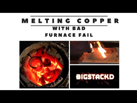 MELTING COPPER  - Copper Ingots -pouring copper melting Copper