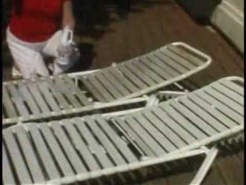 white chaise lounge chair recliner garden cushions clean outdoor furniture chairs - youtube