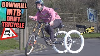 DOWNHILL MTB DRIFT TRICYCLE - SIDEWAYS MADNESS!