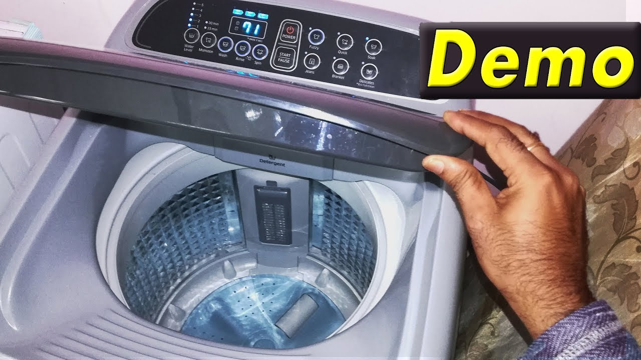 Samsung Top Load Fully Automatic Washing Machine Demo How To Use Samsung Top Load Washer And Dryer Youtube