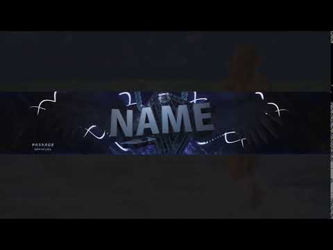 Free Youtube Banner Template #1 ( link in desc ) - 2016 - YouTube