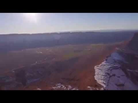 Theo Sanson Team Record Highline, Castle Valley, Utah, USA